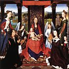 Hans Memling The Donne Triptych [detail 2, central panel] painting